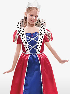 Queen - Child Costume Fancy Dress