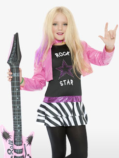 Rockstar Glam - Child Costume Fancy Dress