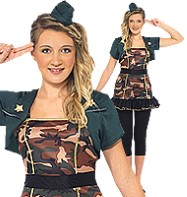 Miss Army Girl - Teen Costume Fancy Dress
