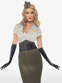 WW2 Army Pin Up Spice Darling - Adult Costume Fancy Dress