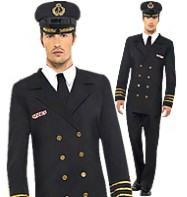 Navy Officer Man - Adult Costume Fancy Dress