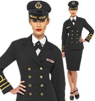 Navy Officer Lady - Adult Costume Fancy Dress