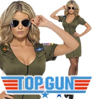 Sexy Top Gun Dress - Adult Costume Fancy Dress
