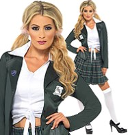 Preppy Schoolgirl - Adult Costume Fancy Dress