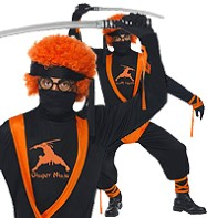 Ginger Ninja - Adult Costume Fancy Dress