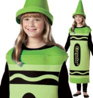 Crayola Crayon Green - Child Costume Fancy Dress