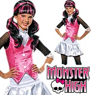 Fancy Dress - Girls Monster High Draculaura - Small