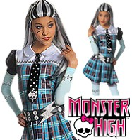 Fancy Dress - Girls Monster High Frankie Stein - Small