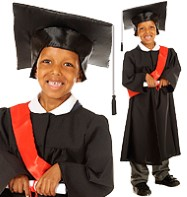 Graduation Gown - Child Costume Fancy Dress
