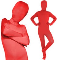 Morphsuit Red - Child Costume Fancy Dress