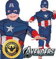 Captain America Premium - Child Costume Fancy Dress