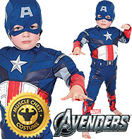 Captain America Deluxe - Child Costume Fancy Dress