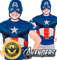 Captain America Dress-Up Set - Child Costume Fancy Dress