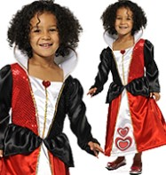 Queen Heart - Child Costume Fancy Dress