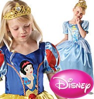 Snow White to Cinderella Reversible Dress - Child Costume Fancy Dress