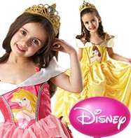Sleeping Beauty to Belle Reversible Dress - Child Costume Fancy Dress