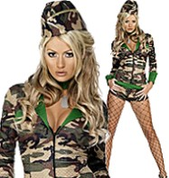 Combat Chick - Adult Costume Fancy Dress