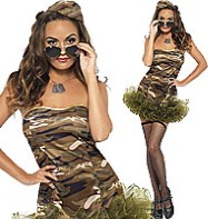 Tutu Army Dress - Adult Costume Fancy Dress