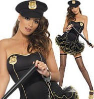 Tutu Police Dress - Adult Costume Fancy Dress
