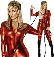 Catsuit Red - Adult Costume Fancy Dress