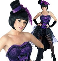 Burlesque Purple - Adult Costume Fancy Dress