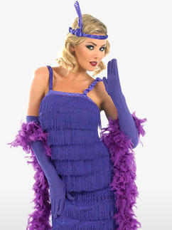 Roaring 20's Purple - Adult Costume Fancy Dress