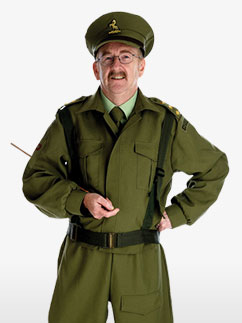 British Home Guard Officer - Adult Costume
