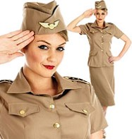 American G.I. Lady - Adult Costume Fancy Dress