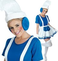 Blue Garden Gnome Lady - Adult Costume Fancy Dress