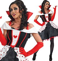 Queen of Hearts Long Length - Adult Costume Fancy Dress