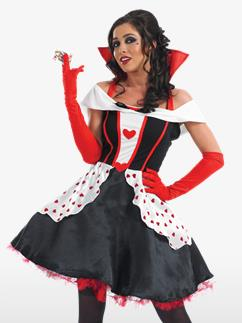 Queen of Hearts Long Length - Adult Costume