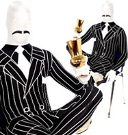 Morphsuit Gangster - Adult Costume Fancy Dress