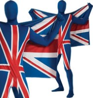 Second Skin Union Jack - Adult Costume Fancy Dress