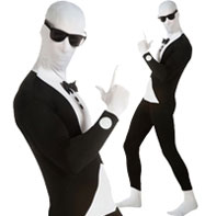 Second Skin Tuxedo - Adult Costume Fancy Dress