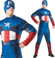Captain America Deluxe - Adult Costume Fancy Dress