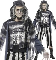 Ghostly Pirate - Adult Costume Fancy Dress