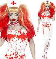 Blood Drip Nurse - Adult Costume Fancy Dress