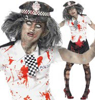 Zombie Policewoman - Adult Costume Fancy Dress