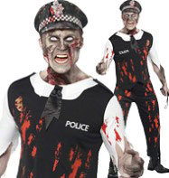 Zombie Policeman - Adult Cotume Fancy Dress