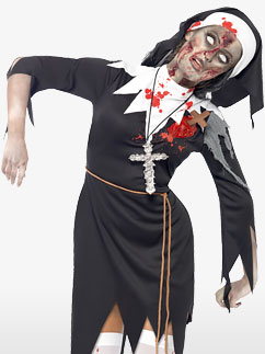 Zombie Bloody Sister Mary - Adult Costume Fancy Dress