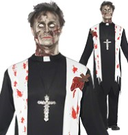 Zombie Priest - Adult Costume Fancy Dress