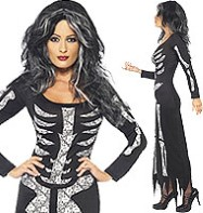 Skeleton Tube Dress - Adult Costume Fancy Dress