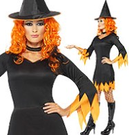 Orange Witch - Adult Costume Fancy Dress