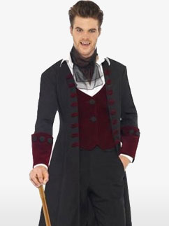 Gothic Vampire - Adult Costume Fancy Dress