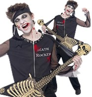 Zombie Death Rocker - Teen Costume Fancy Dress
