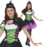 Punky Neon Witch - Teen Costume Fancy Dress