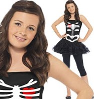 Skeleton Tutu - Teen Costume Fancy Dress