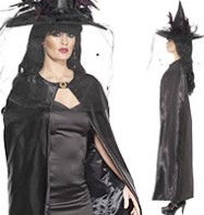 Reversible Cape Black - Adult Costume Fancy Dress