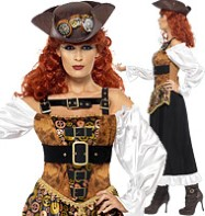 Steampunk Pirate Wench - Adult Costume Fancy Dress