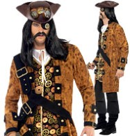 Steampunk Pirate - Adult Costume Fancy Dress